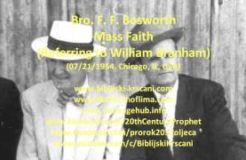 F. F. Bosworth - Mass Faith (Referring to William Branham, 07/21/1954, Chicago, IL, USA)